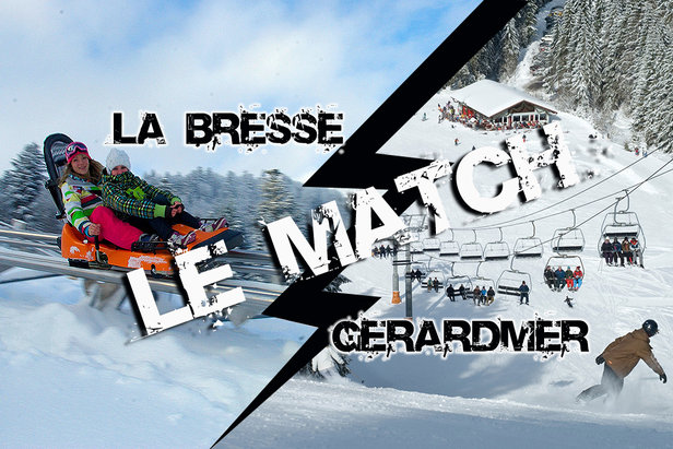 match comparatif entre la Bresse hohneck et Gerardmer