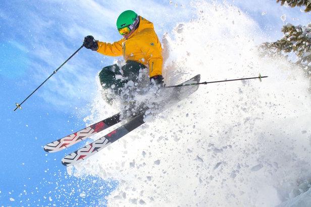 Danny Walton skis Sun Valley powder. - ©Cody Haskell