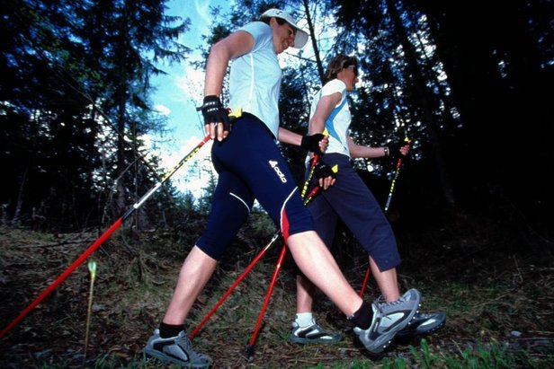 Nordic Walking in Disentis Sedrun