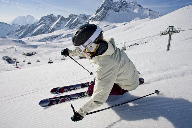 Skier at Garmisch Zugspitze.