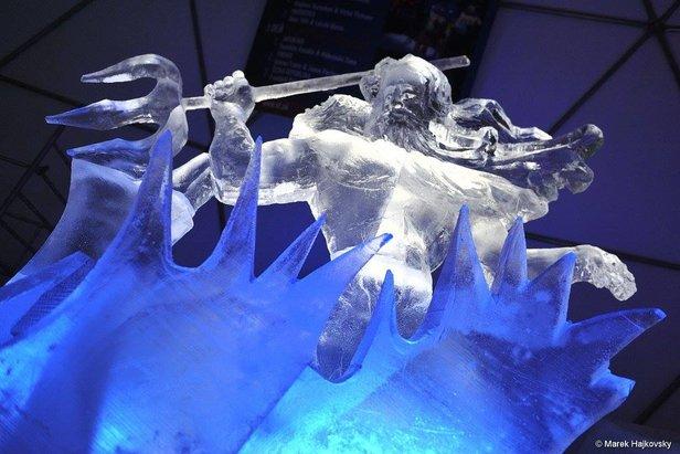 Ľadová krása na Hrebienku aj tentoraz vyráža dych - ©TMR / Marek Hajkovský