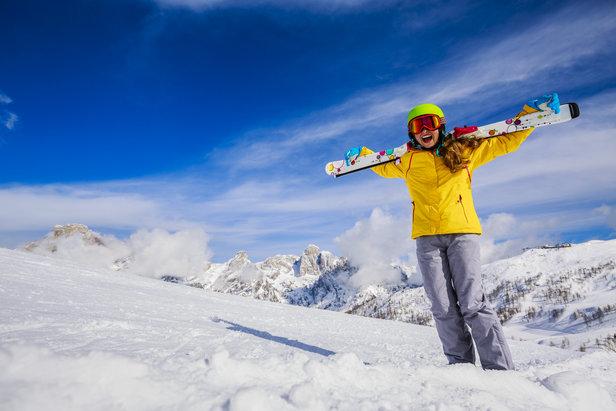 Skifahren für Anfänger - ©Fotolia.de ©Gorilla (#126092723)