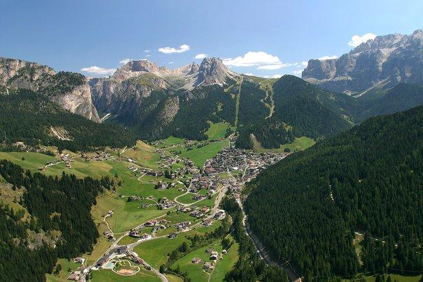 Vista panoramica della Val Gardena, Italia