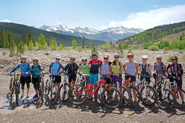 A group of happy mountain bikers at Breck Bike Week. - ©Louie Traub