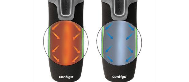 Kubek termiczny Contigo West Loop 2.0 wykonany z najwyższej jakości japońskiej stali, w technologii próżniowej utrzymuje ciepło do 4 godzin - ©Contigo