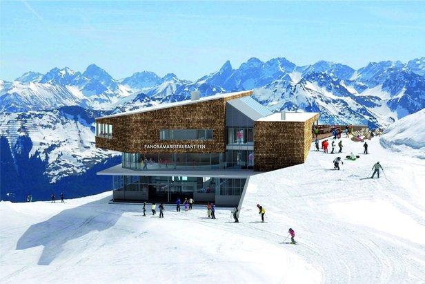 Kleinwalsertal: Na Ifene vyrastajú dve nové lanovky a panoramatická reštaurácia - ©www.ok-bergbahnen.com