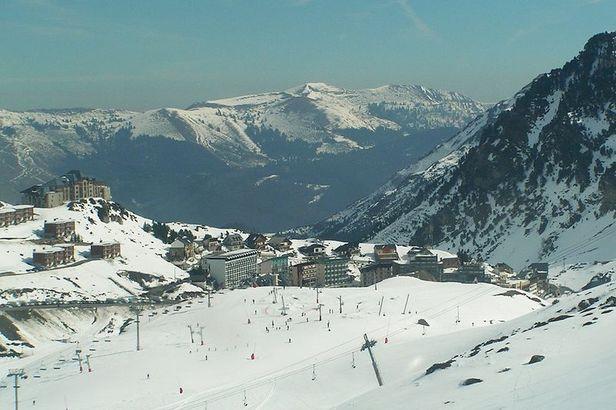 La Mongie FRA village aerial