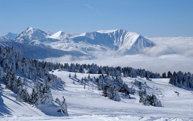 Paysage depuis les pistes de ski de Chamrousse