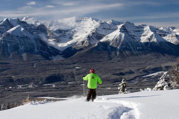 Skifahrer in Lake Louise - ©Skigebiet Lake Louise