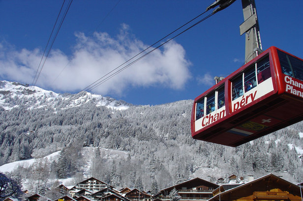 Champery tramThe gondola tram of Champery, Switzerland