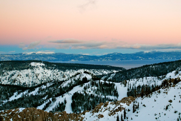 Overlooking Lake Tahoe from Squaw Valley