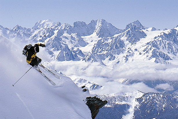 Reliable snow for freeskiers in Verbier, Switzerland