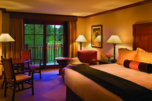 Guest room at the Hyatt Hyatt Regency Lake Tahoe Resort