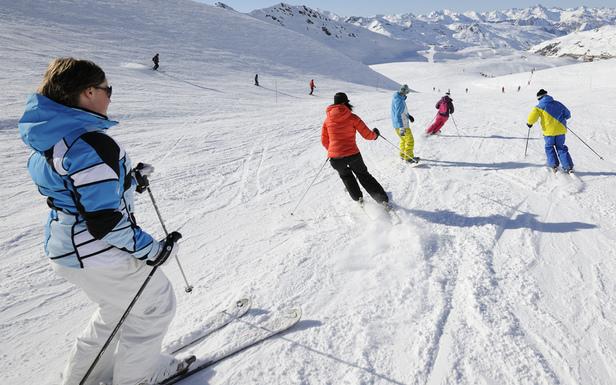 Premières descentes de ski sur les pistes de Val Thorens... - ©P.Lebeau / OT Val Thorens