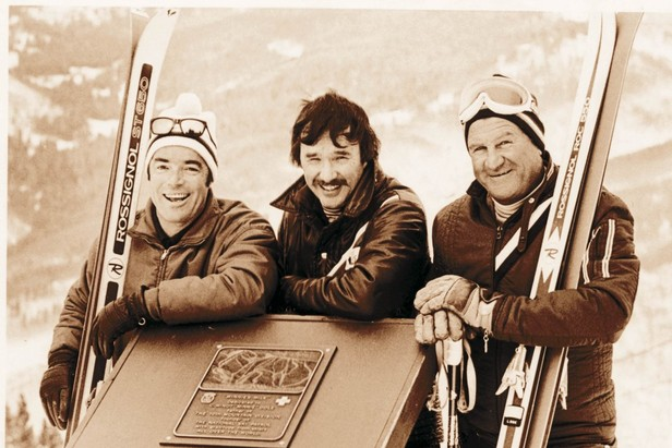 Pete Seibert, one of Vail's founders, is on the left.