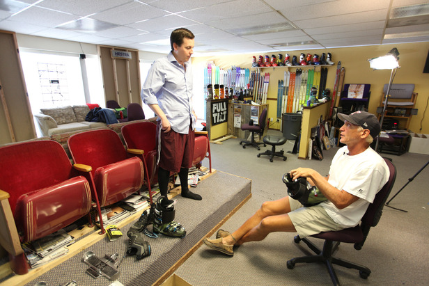 OTS Senior Managing Editor Dan Kasper meets with Larry at Larry's Bootfitting in Boulder, Colorado, to get dialed in for the season.
