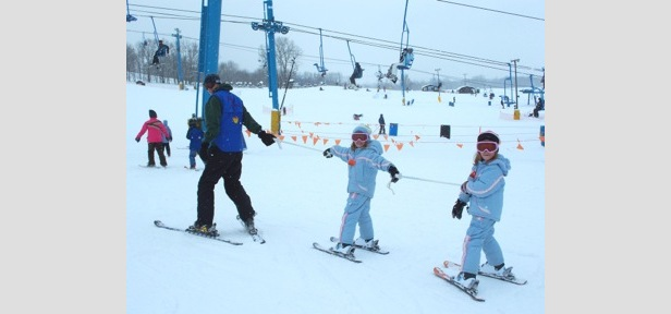 Skiers and snowboarders ages five to 12 can take advantage of special beginner pricing for lift ticket, rental and lesson.
