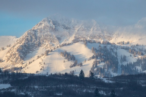 Early morning clouds hang over Snowbasin Resort, located 33 miles from Salt Lake City. The resort, which opened in 1939, is recently best known for hosting the downhill during the 2002 Winter Olympic Games.  - ©Liam Doran
