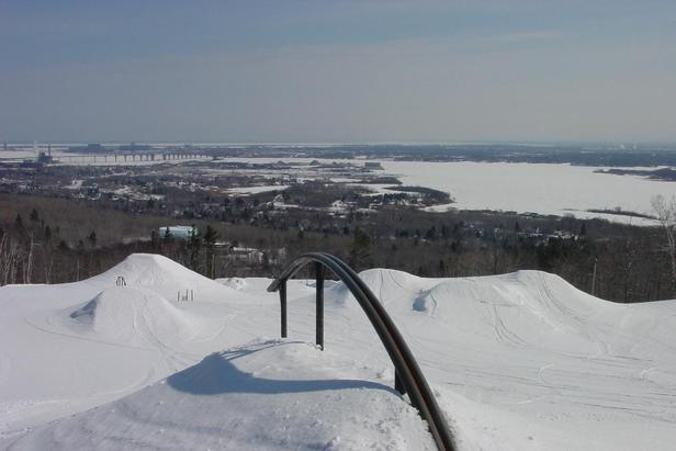 Spirit Mountain terrain park view