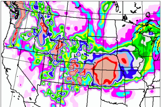 Snow will pile up in the Rockies over the next five days.