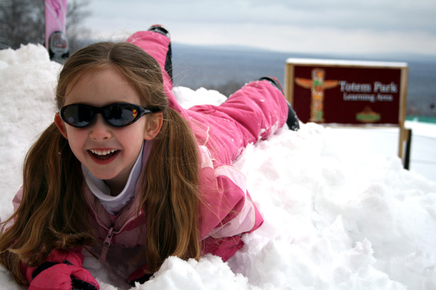 Indianhead girl in snow