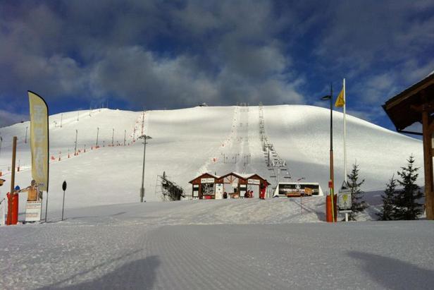 Une belle journée de ski en perspective sur les pistes de l'Alpe d'Huez - ©OT Alpe d'Huez
