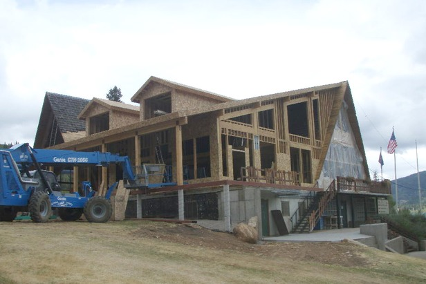 Beaver Mountain Lodge Construction