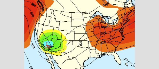 A storm will bring cool air and snow to the central Rockies early next week. - ©OpenSnow.com