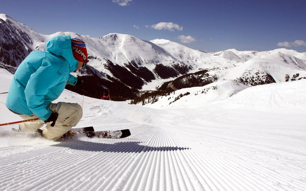 Beaucoup de neige, peu de monde sur les pistes et un soleil généreux... Exellentes conditions de ski !