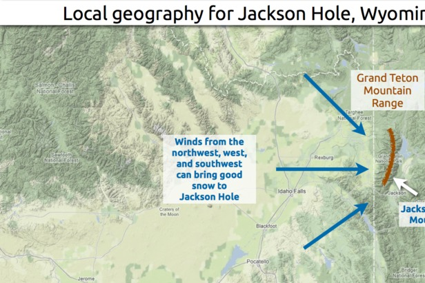 Learn how to predict snowfall totals in Jackson Hole. - ©OpenSnow.com