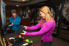 Testers got a second round of swag during the OnTheSnow après at the Seven Summits Club at Snowbird.   - Testers got a second