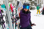 Ski testing is a game of grab and go! - Ski testing is a