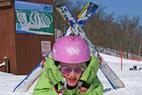 Wild Mountain MN ski kid - Child taking a break