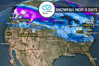 3.9 Snow Before You Go: Head North for Heavy Snow - ©Meteorologist Chris Tomer