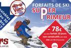 20% de remise sur les forfaits ski 10 jours non consécutifs