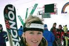 Kanadierin Genevieve Simard vor DSV-Duo Riesch und Gerg - ©Christian Flühr