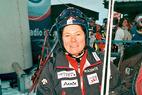 Hilde Gerg -  Schnellste im ersten Abfahrtstraining von Lake Louise 2002 - ©Gerwig Löffelholz
