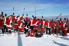Mt. Rose Hosts Their 12th Annual Santa Ski Crawl