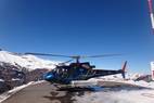 The chopper in Valle Nevado. - The chopper in Valle