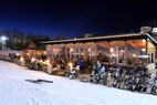 The Historic Stone Chalet is the locals favorite for apres ski at Granite Peak. - The Historic Stone Chalet