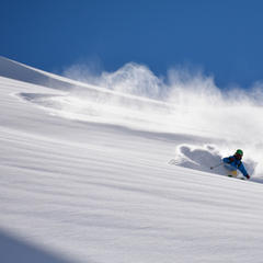 Griffin Post skis La Parva Backcountry, Chile