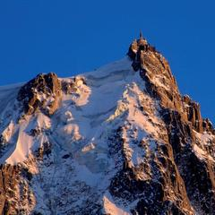 The Aiguille du Midi ski lift in Chamonix