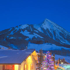 Mt. Crested Butte lights up with winter cheer.