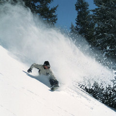 Austria snowboard deep powder