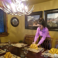 Katie setting table - ©Heather B. Fried