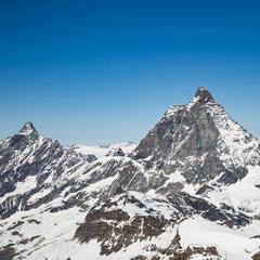 Blick vom Klein Matterhorn auf die Südseite des Matterhorns - ©Skiinfo