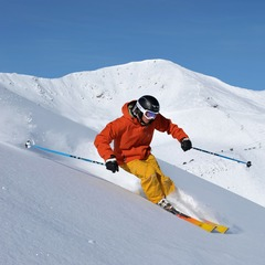 Marmot Basin AB powder skier