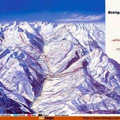 Skikarten West Europa / Österreich / Saalbach Hinterglemm - ©*