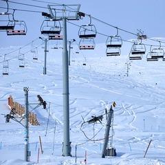 Fresh powder covers La Parva Ski Resort