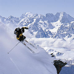 Freeskier in Verbier, Switzerland